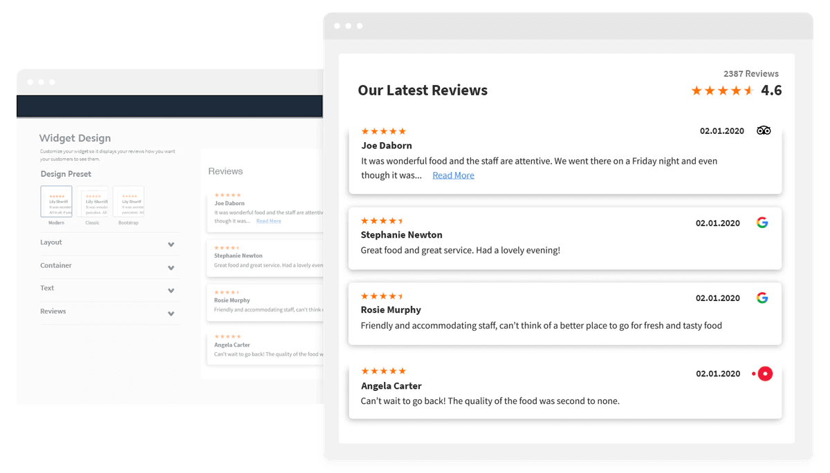 Showcase Your Online Reviews with Etattle